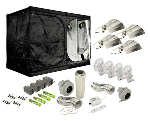 He complete grow tent kit 240cm x 240cm x200cm the inner for Complete kit homes
